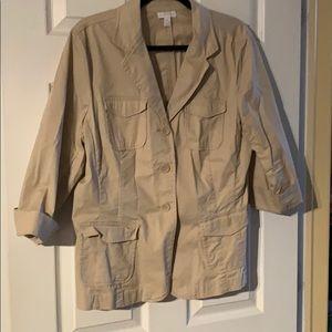 Tan cotton jacket/blazer